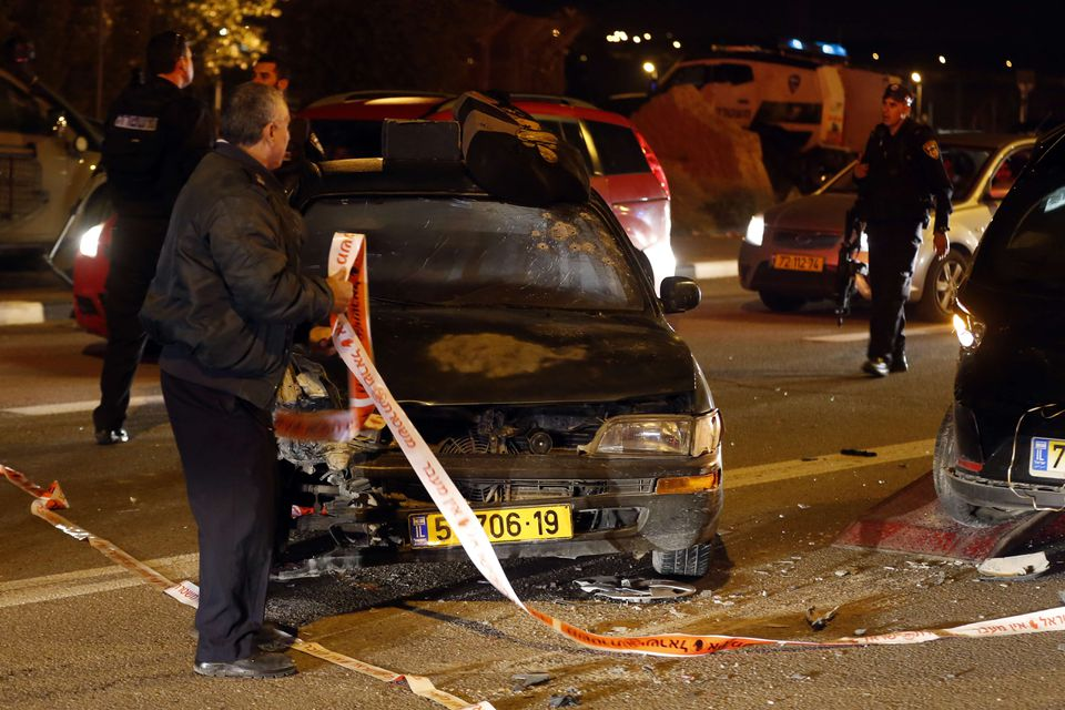 The attack left one Israeli dead and eight wounded in the Jewish settlement blocin the Israeli-occupied West Bank.