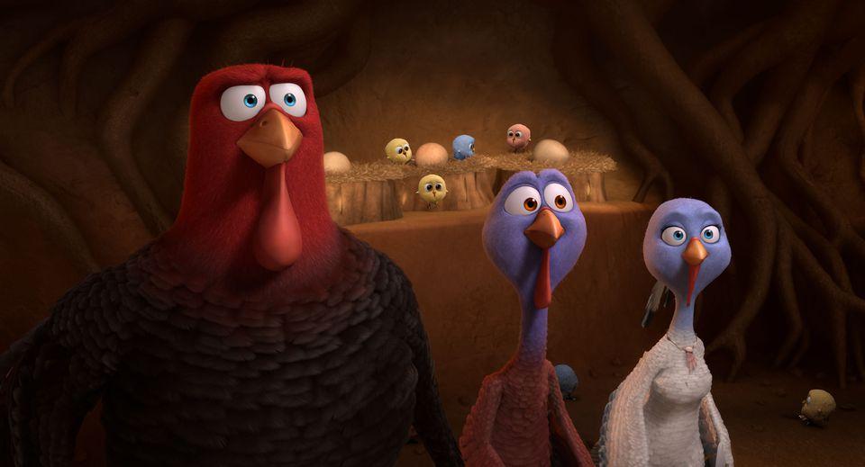 From left: Jake (voice of Woody Harrelson), Reggie (Owen Wilson), Jenny (Amy Poehler).