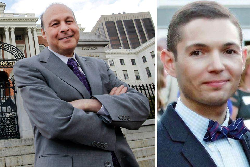 Stanley Rosenberg says Bryon Hefner (right) helped him fight cancer.