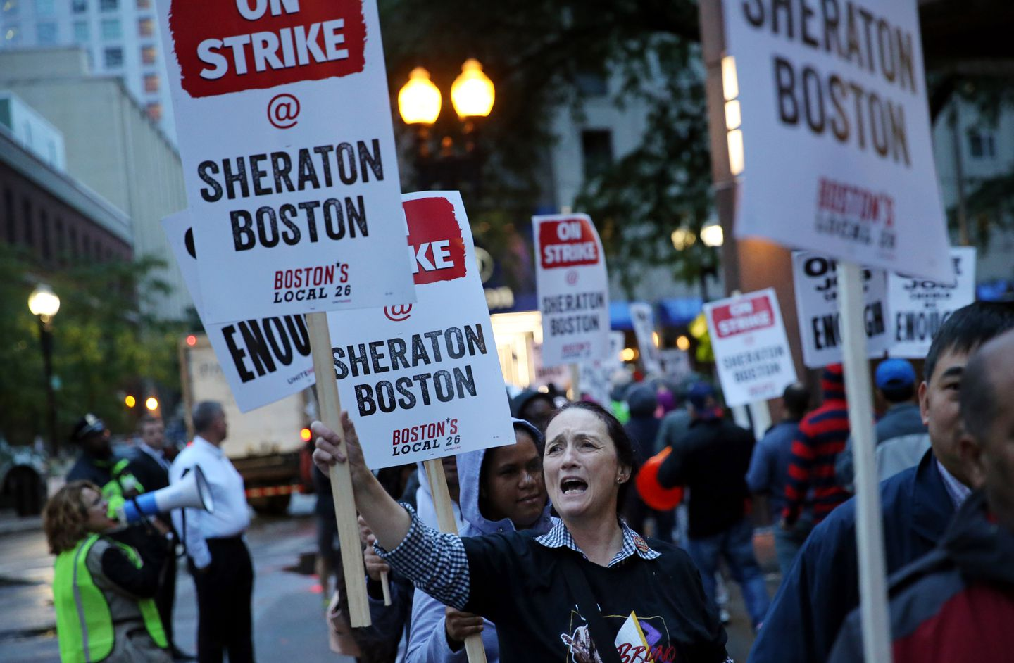 Last fall, hotel workers walked off the job at seven Marriott hotels in Boston, including the Sheraton Boston.
