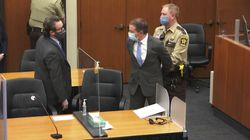Former Minneapolis police Officer Derek Chauvin (center) is taken into custody on April 20 after he was found guilty on three counts for the murder of George Floyd in 2020.