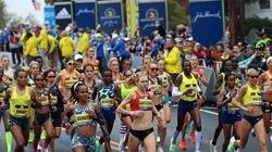 The women's pro start of the 125th Boston Marathon in Hopkinton on Oct. 11.