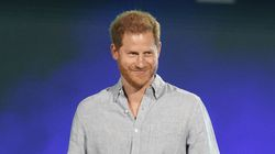 """Prince Harry, Duke of Sussex speaks at """"Vax Live: The Concert to Reunite the World"""" on May 2."""