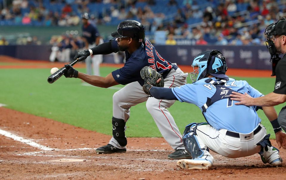Jackie Bradley Jr.'s sacrifice bunt was among the keys to the Red Sox plating the winning run in the 11th.