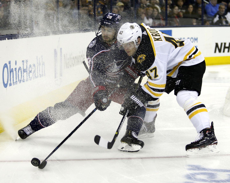 Torey Krug S Injury Latest Blow To Bruins Embattled Defense Corps The Boston Globe
