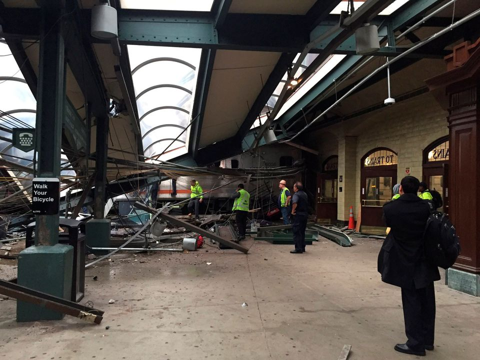 A commuter train crash in Hoboken, N.J., Thursday killed a woman and injured more than 100 people.