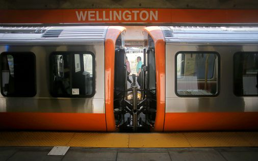 New Orange Line car goes off rails in Wellington yard - The Boston Globe