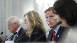 Senator Richard Blumenthal looked on during a Senate hearing on children's online safety and mental health on Thursday in Washington.