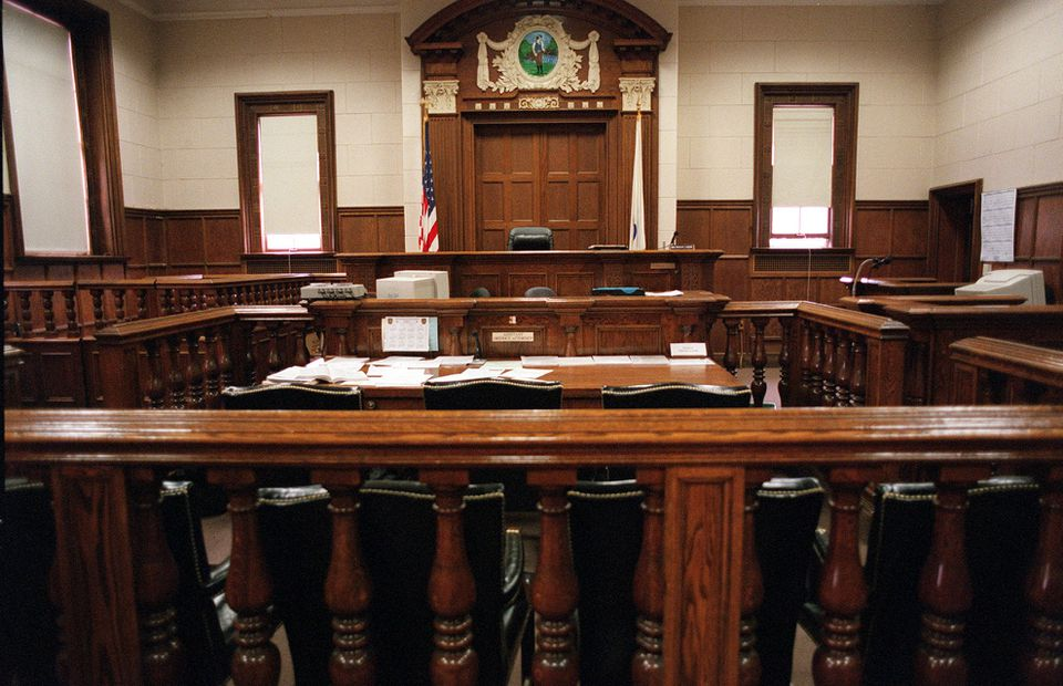 A look at the interior of a Newton District Court courtroom.