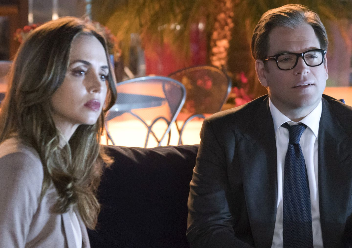 Pictured L-R: Eliza Dushku as J.P. Nunnelly, Michael Weatherly as Dr. Jason Bull, and Charlie Semine as Gary.