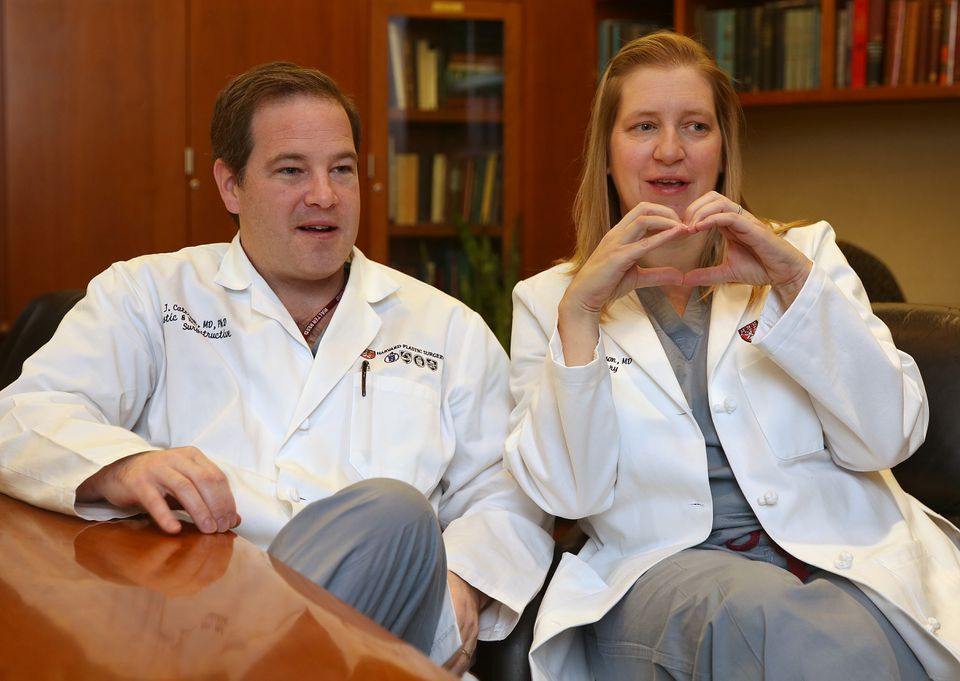 Brigham and Women's Hospital plastic surgeons E.J. Caterson and Stephanie Caterson are married and work together.