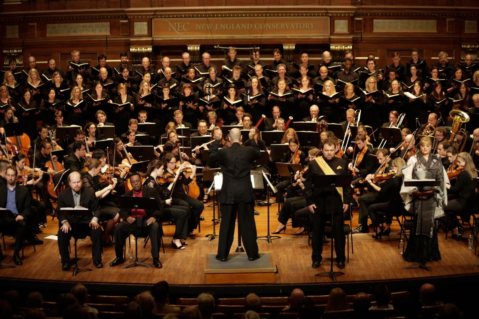 """With Gil Rose on the podium Sunday, Odyssey Opera performed a concert version of Wagner's """"Rienzi"""" at Jordan Hall."""