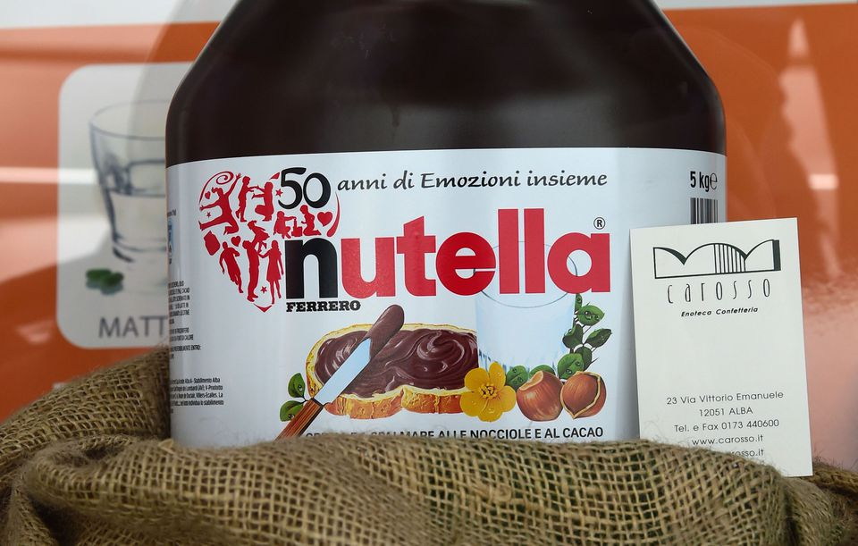 A pot of Nutella was seen in a shop window in Italy during the 50th anniversary celebration of the product in 2014.