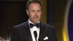 """Chris Harrison shown in a 2018 file photo. Harrison announced Tuesday he is stepping aside as host of """"The Bachelor"""" franchise."""