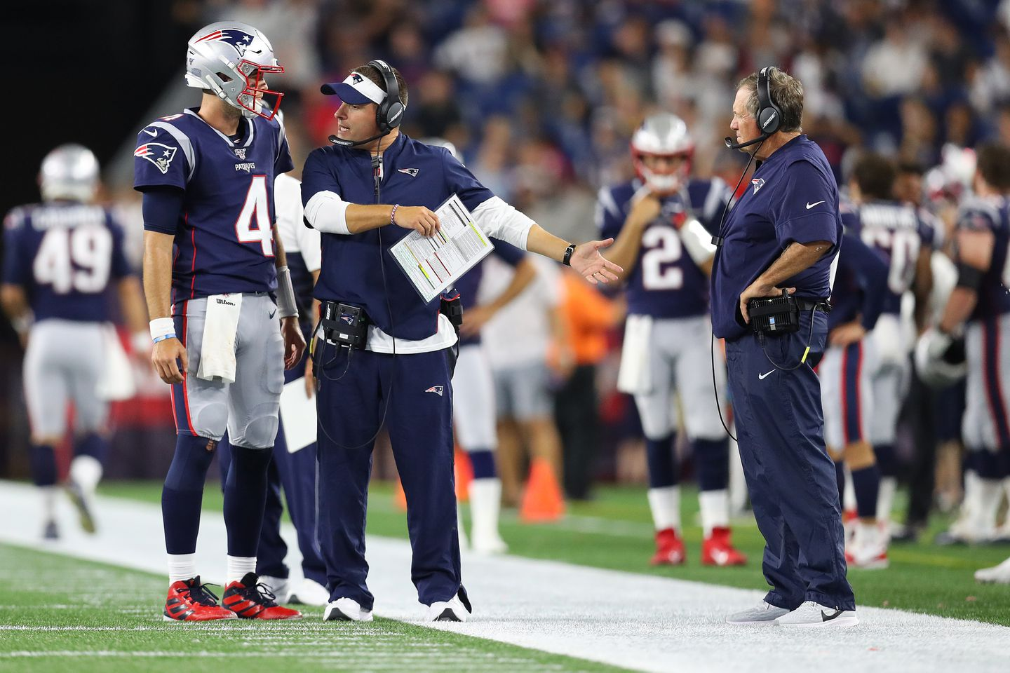 Bill Belichick S Assessment Of The Patriots Quarterbacks We Feel Like We Have Four Good Players The Boston Globe