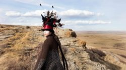 """Meryl McMaster, """"Edge of a Moment,"""" 2017"""