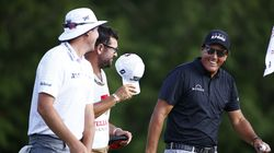 Phil Mickelson (right) attributed most of the fun to his grouping of everyman Joel Dahmen (left).