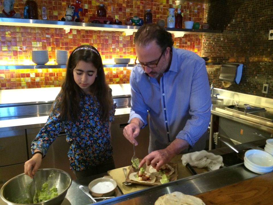 Alta Strada and Tico chef Michael Schlow and daughter Petra.