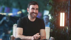 """Actor Brett Goldstein is shown at the Austin City Limits Festival in Texas earlier this month. The """"Ted Lasso"""" costar hosts the """"Films to Be Buried With"""" podcast."""
