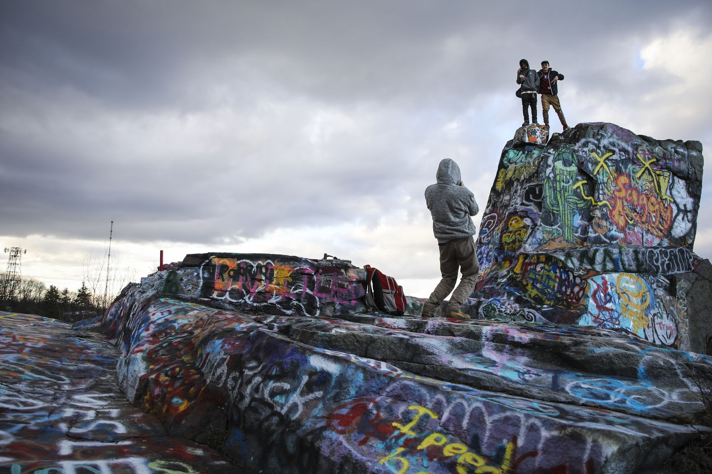 In Quincy Deadly Quarries Became A Beautiful Graffiti Haven The Boston Globe