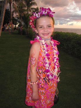 Eleanor Brogan, 8, of Wayland, went to Hawaii with her family last year.