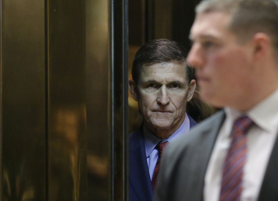 Michael Flynn at Trump Tower in December.