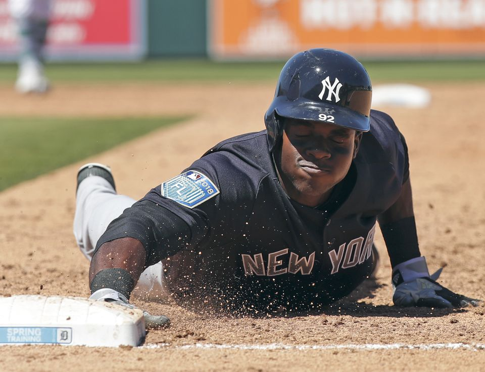 Estevan Florial has hit three triples and batted in three runs in his 30 spring training at-bats.