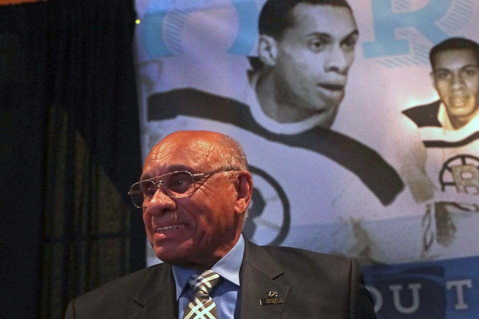 O'Ree was honored during a ceremony attended by Boston Mayor Marty Walsh, NHL commissioner Gary Bettman, and Bruins chief executive Charlie Jacobs.