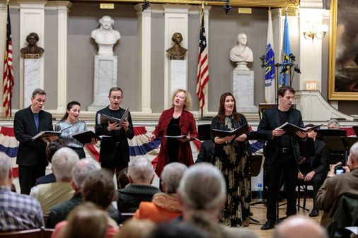 The Boston Camerata in a glorious 'Free America!'