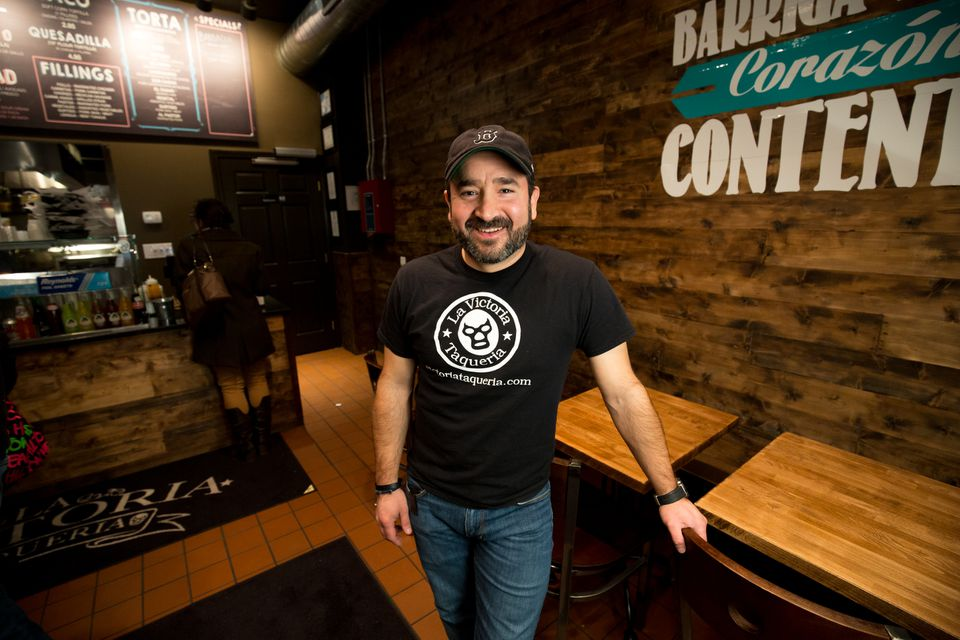 Alex Barrientos runs La Victoria Taqueria in Arlington and Beverly.