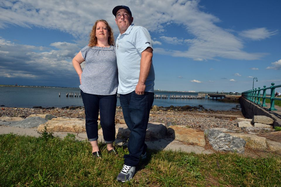 """Michael and Laura Sprinsky at Castle Island in South Boston. She tipped off police about the identity of the infant """"Baby Doe"""" in the Bella Bond case, after Michael got a call from Rachelle Bond saying Michael McCarthy had killed the child."""