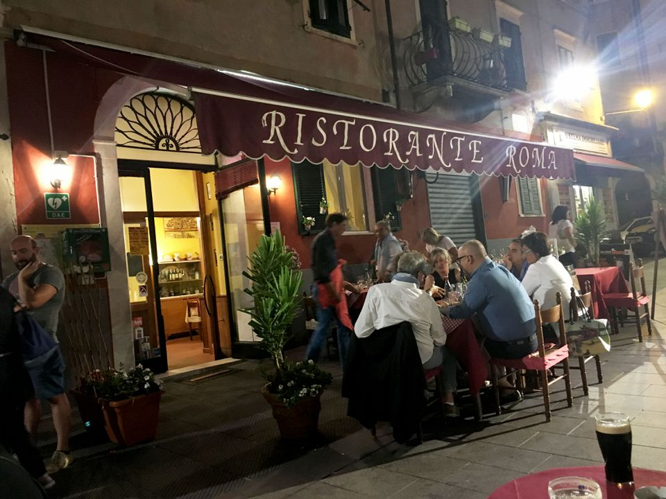 The author's long lost cousin owns Ristorante Roma.