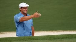 Bryson DeChambeau had a better sense of the course in the second round of the Masters, following his opening 76 with a 67 to get to 1-under par 143, six shots back of the leader.