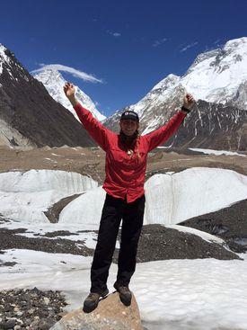 Vanessa O'Brien at the K2 base camp.