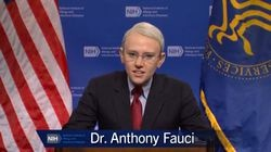 "Kate McKinnon played Dr. Anthony Fauci on ""Saturday Night Live"" during the show's cold open."