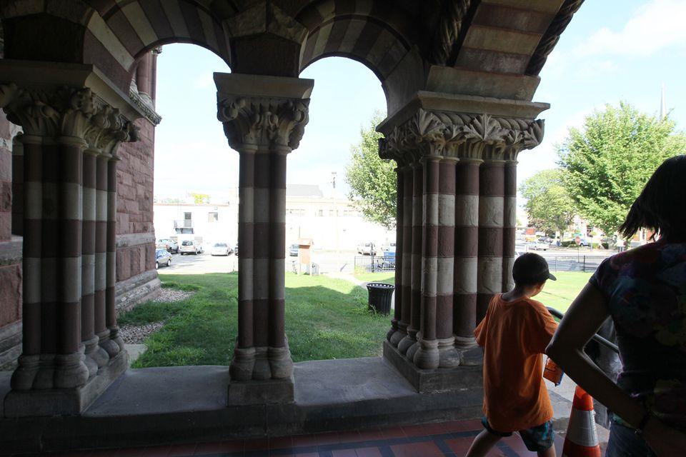The Woburn Public Library was designed by celebrated architect Henry Hobson Richardson.