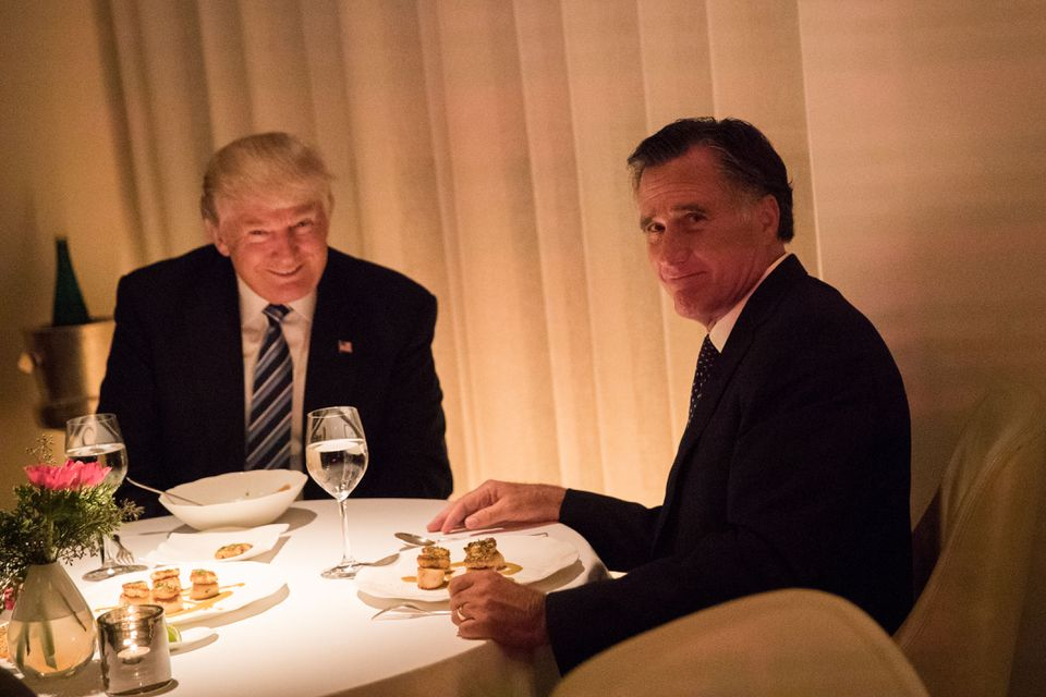 President-elect Donald Trump and Mitt Romney dined together at a New York restaurant last month.