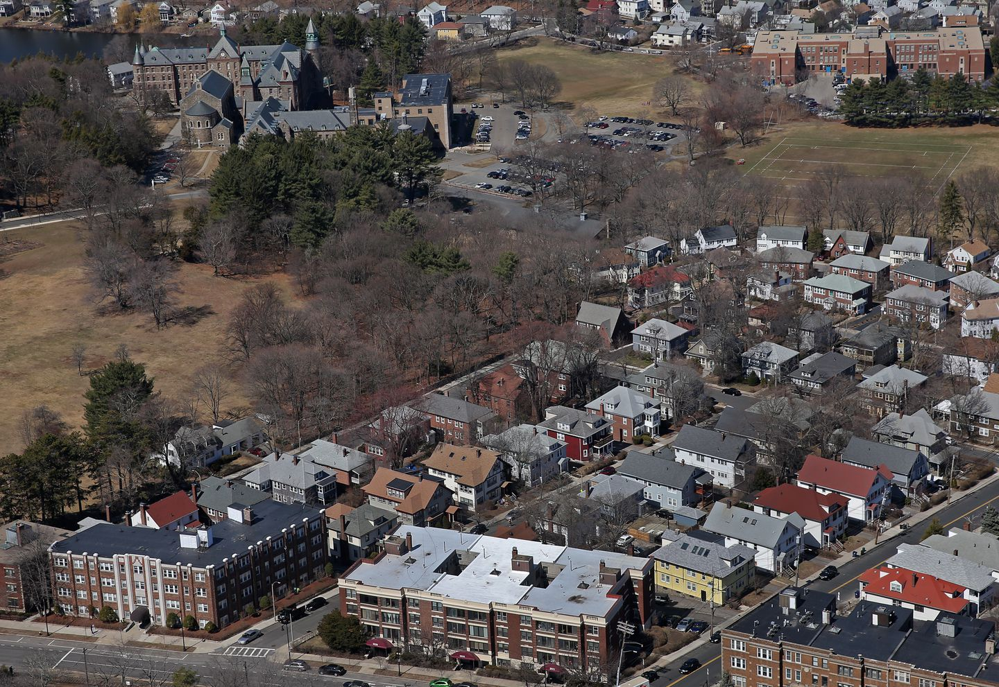 St John's Seminary (top left).