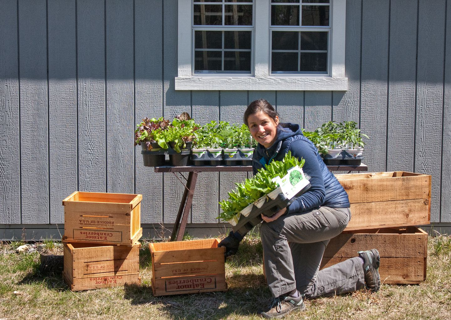 Jenn Nawada engineered the boxes to be easy to care for, even for the most novice growers.