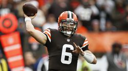 Browns quarterback Baker Mayfield has played the past four weeks with a torn labrum in his left shoulder.