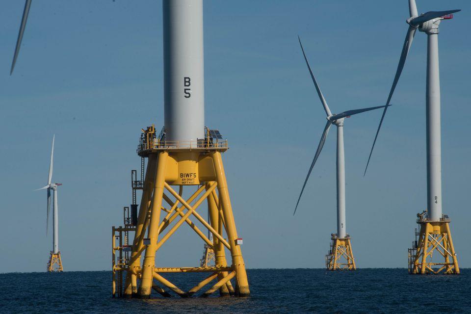 The Block Island wind farm in 2016.