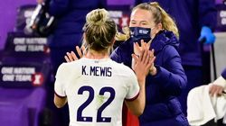 Kristie and Sam Mewis scored all of the US' goals vs. Colombia in a friendly in January.