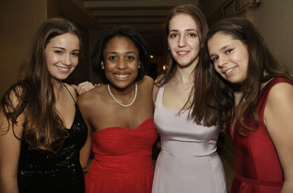From left: Clayre Attisani of Wellesley, Clarissa Carson-Rose of Rye, N.Y., Polly Gabrieli of Boston, and Allegra Pellegrino of Boston.