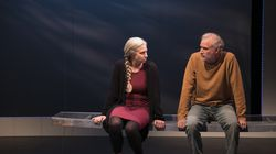 """Samantha Richert and Barlow Adamson in """"Be Here Now"""" at Lyric Stage Company."""