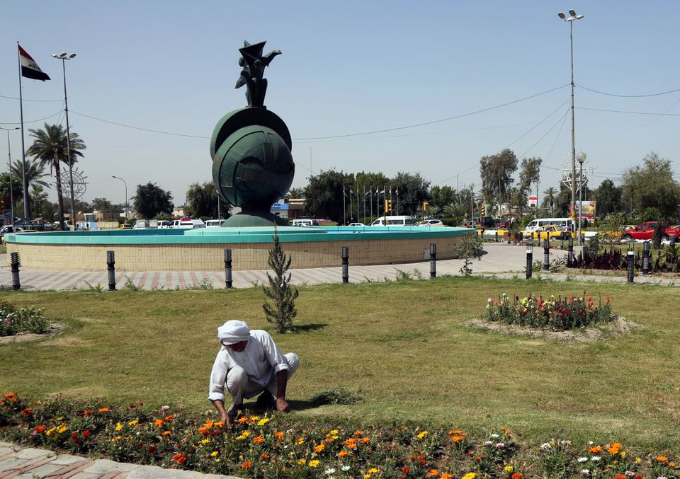 Nisour Square, the site of a deadly shootout by Blackwater private security contractors in 2007 in Baghdad.