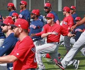 Players worked out at the Player Development Complex at JetBlue Park during spring training last season.
