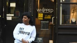 Courtney Blagrove, founder of Whipped Urban Dessert Lab, is seen at her store in Manhattan.