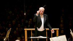 Bernard Haitink leading the Boston Symphony Orchestra in 2015.