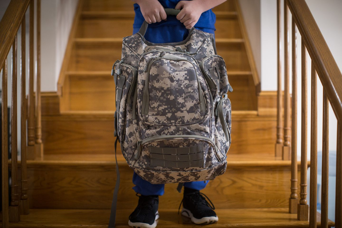 29038f62a4dd Nicholas Abreau posed for a portrait with the bullet resistant backpack his  father Charles bought him