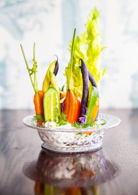 Labneh with crudites